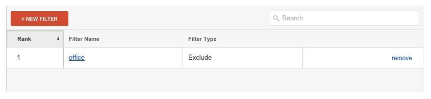 filter google analytics
