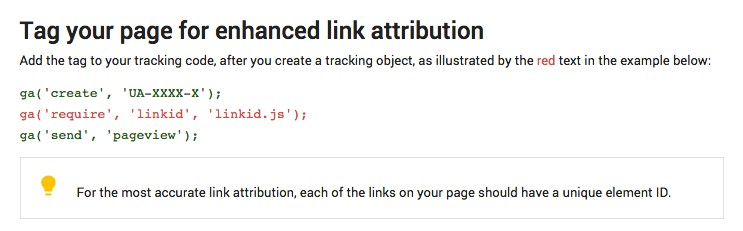 google analytics enhanced link attribution