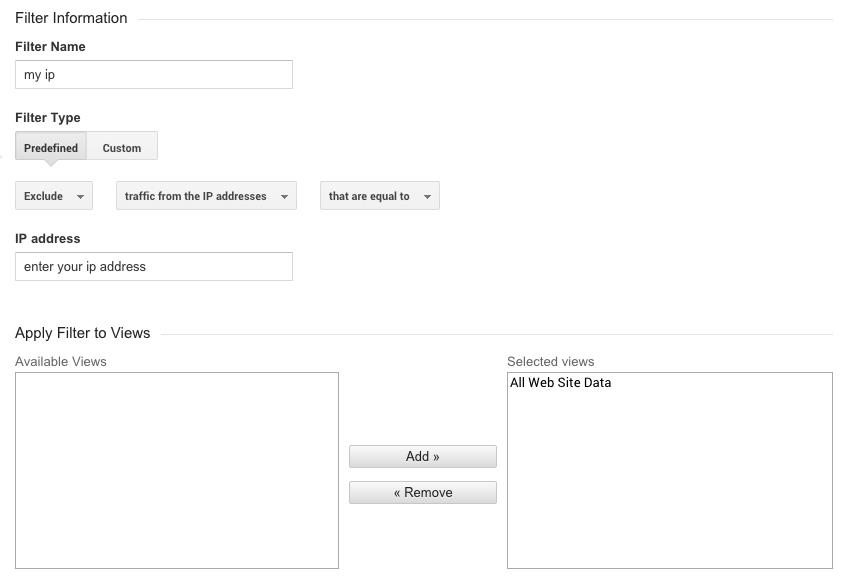 google analytics ip address filter