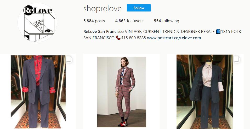 ReLove San Francisco shoprelove Instagram photos and videos