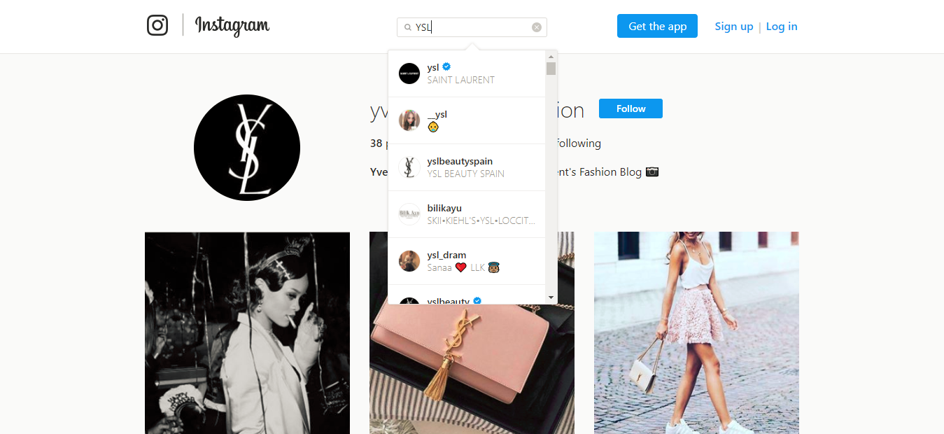 Yves Saint Laurent yvessaintlaurentfashion Instagram photos and videos