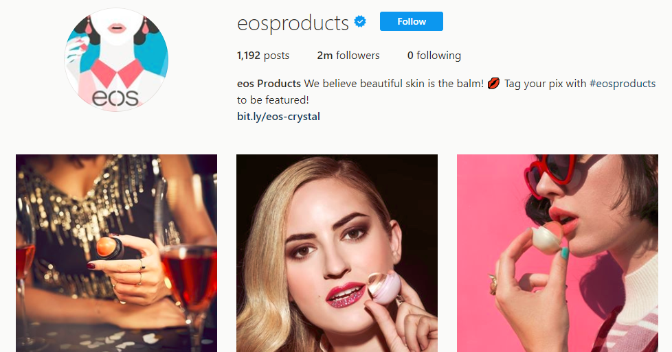 EOS Products Instagram