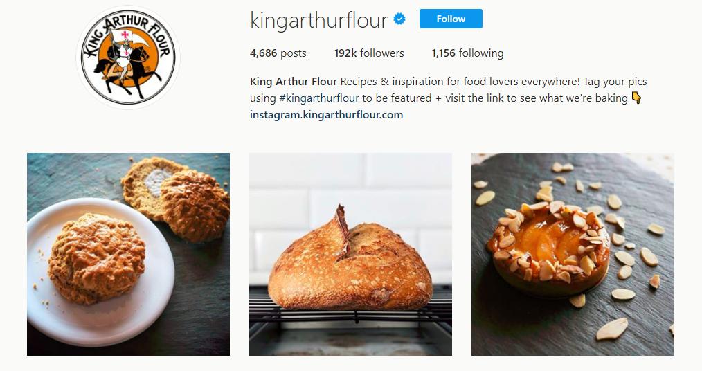King Arthur Flour Instagram