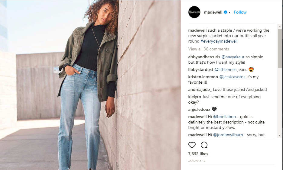 Madewell Example 1