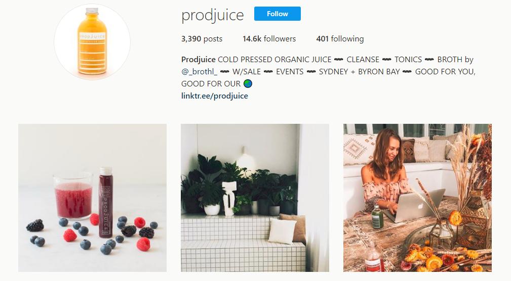 Prodjuice Instagram