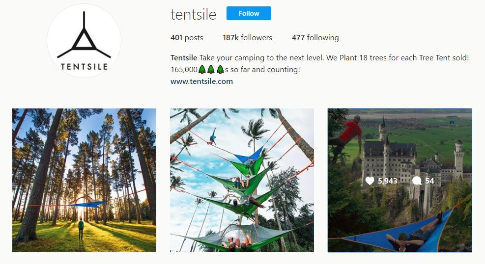 Tentsile Instagram
