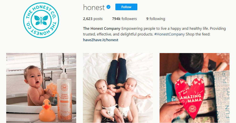 The Honest Company Instagram