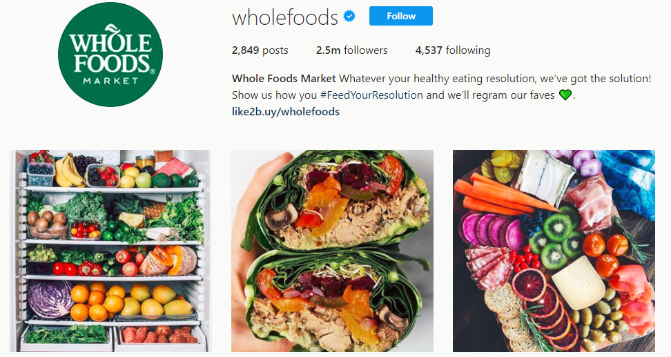 Whole Foods Market Instagram