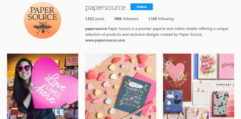 papersource Instagram