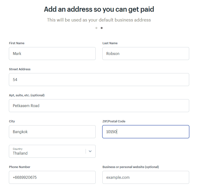 Shopify Sign Up Step 2 2