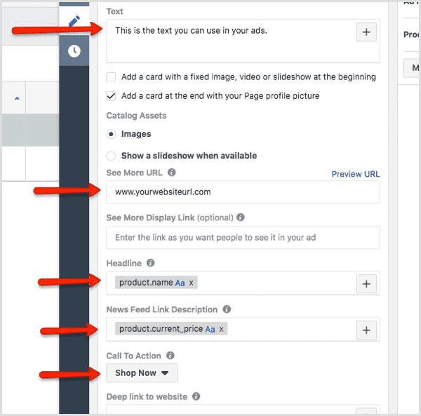 facebook create dynamic product ad 14