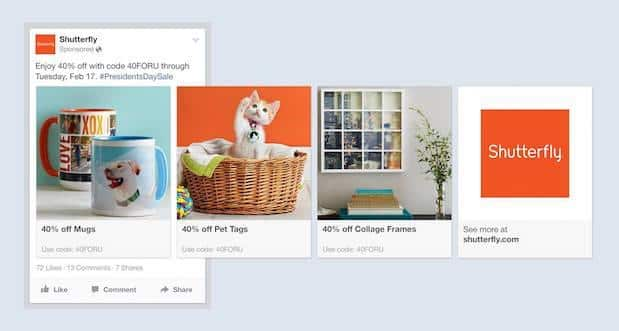 facebook product ads carousel