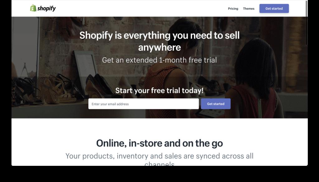 Shopify 30 Days Free Trial